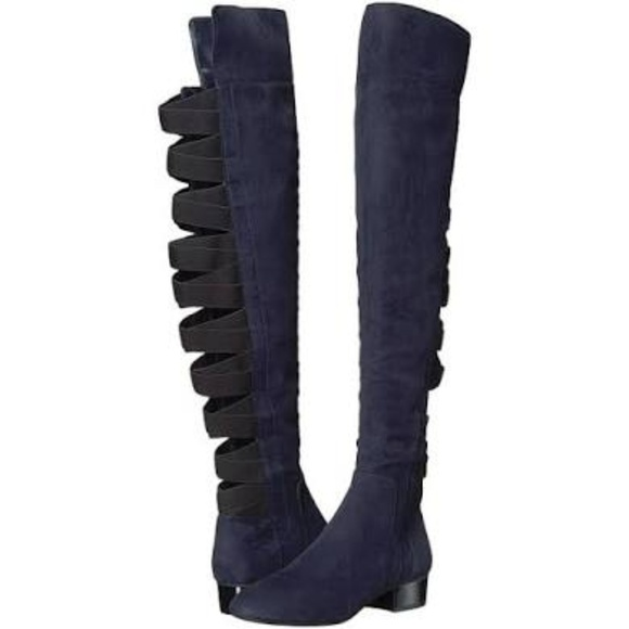 a56d02067bc Nine West Ooohaah Fabric Back Straps Boot 5.5M NEW.  M 5b5b8d4d534ef94a5d2ab0db